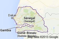 Mapa Senegalu