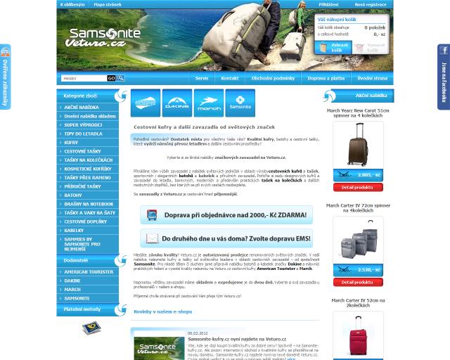 Veturo.cz - cestovní zavazadla a tašky